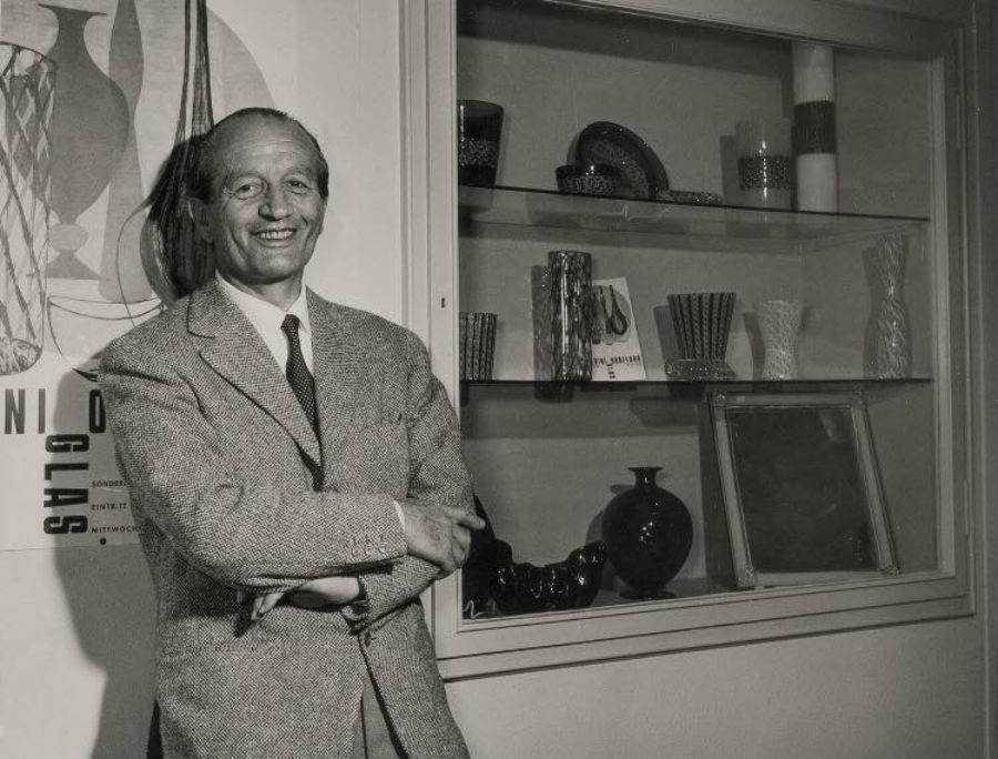 Paolo Venini - kanske Muranos viktigaste glasblåsare under 1900-talet. Bild: Barnebys.com