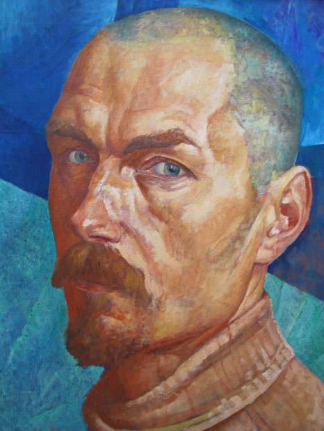 Petrov-Vodkine, Autoportrait février 1918