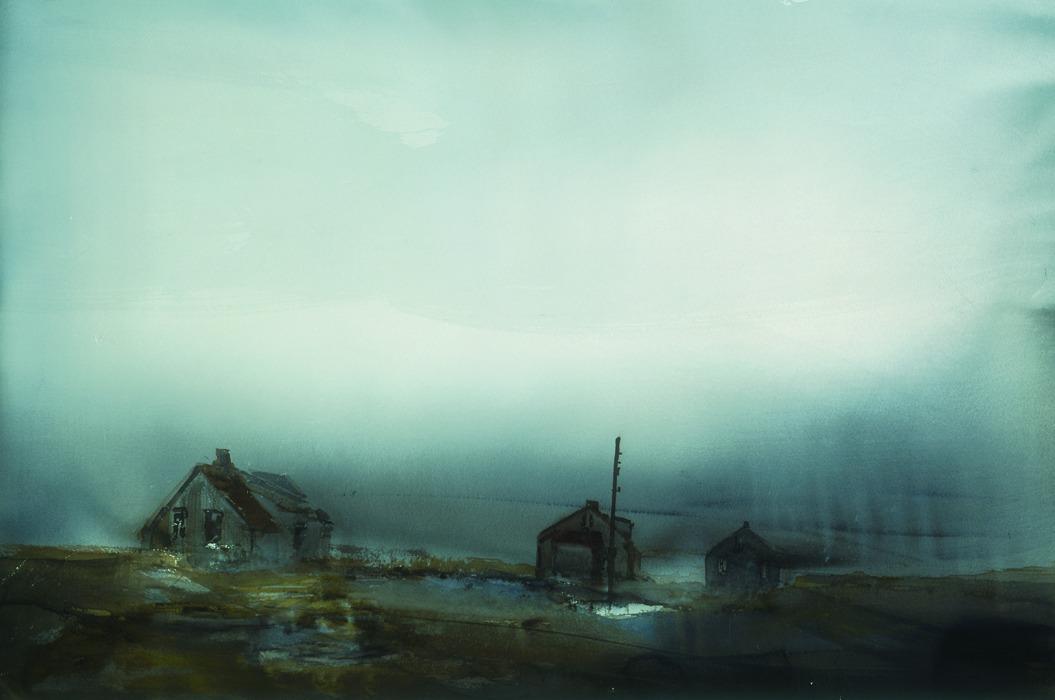 Lars Lerin 'Dimma' 1997. Bild: Nordiska Akvarelmuseet