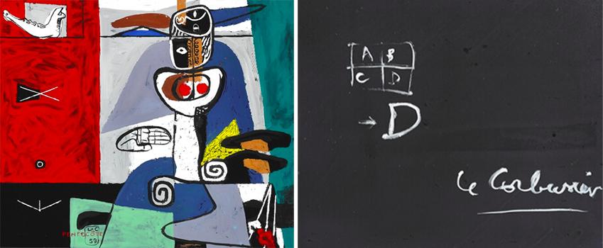 """Le Corbusier: """"Pentecôte"""", 1959. Signé L-C 59, Émail sur métal, 55×65 cm"""