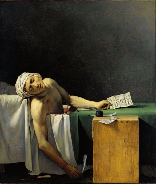 Jacques-Louis David, La mort de Marat, 1793 Image via RMN / © Gérard Blot
