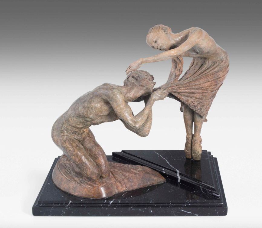 "RICHARD MACDONALD (*1946 Pasadena) - ""Romeo und Juliet"", Bronze, signiert, 1992"