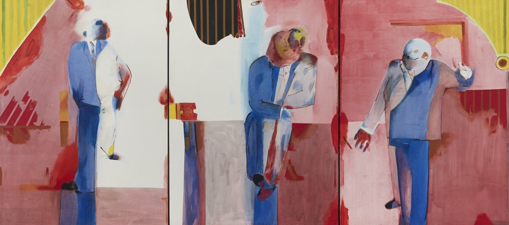 Robert Hodgins South African 1920-2010 Night of the Awards, triptych 1997:8