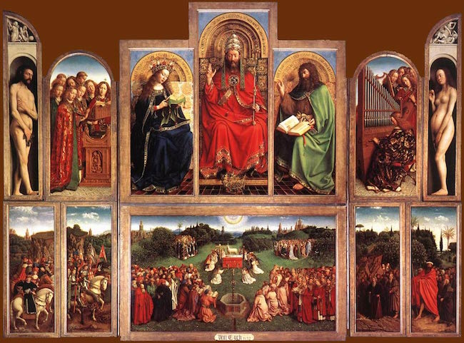 Jan och Hubert van Eyck, målningarna i Gentaltaret, 1420 -1432.