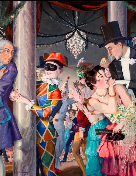 Konstantin Somov, Masquerade, 1925 Estimation: 695 000 €