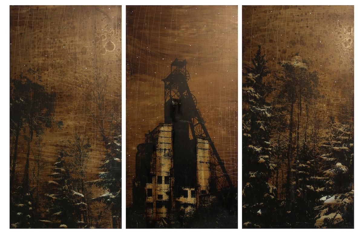 "Ilya Gapanov - Form ""Reliquary"" series (triptych), 2017 - K35 Art Gallery"