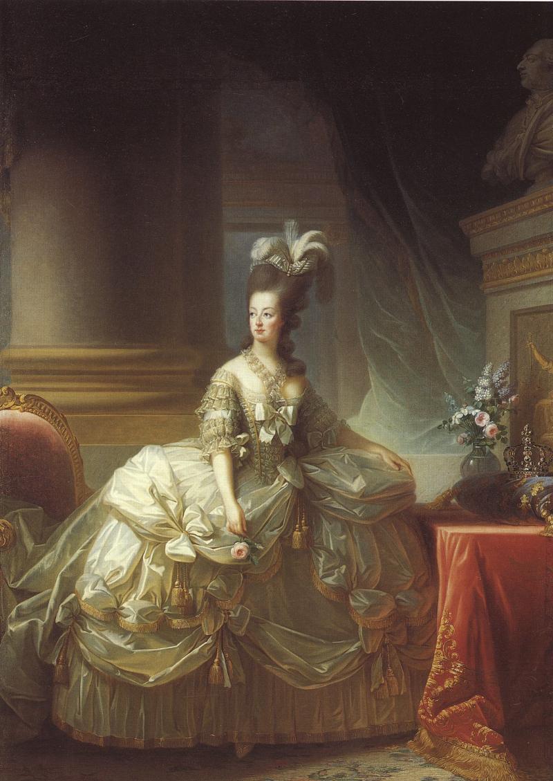 """Elisabeth Louise Vigée Le Brun, """"Marie Antoinette en grand habit de cour"""" (1778)"""