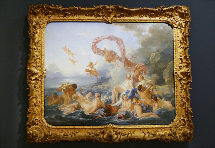 """Ett av de mer kända verken ur Tessins samling är den enastående målningen """"Venus Födelse"""" av Francois Boucher, som nu visas på Louvren tillsammans med närmare 120 andra verk."""