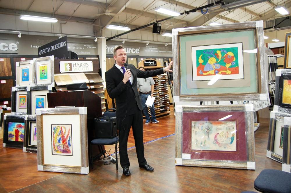 An auction house and a flooring company