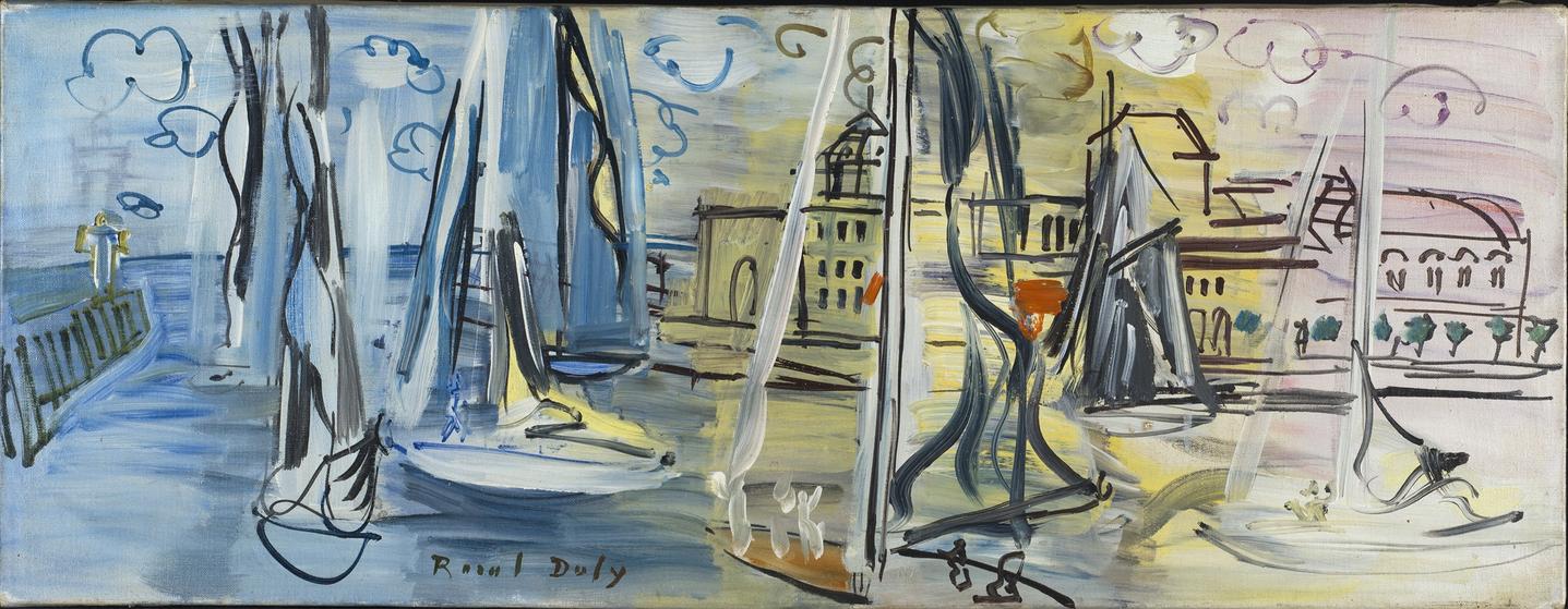 Raoul Dufy Les régates à Deauville, Circa 1927 Huile sur toile