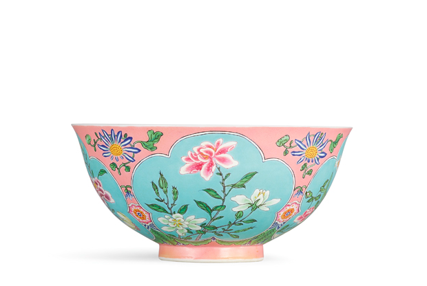 Rare falangcai bowl was sold at Sotheby's Hong Kong in April 2018. Image: Sotheby's