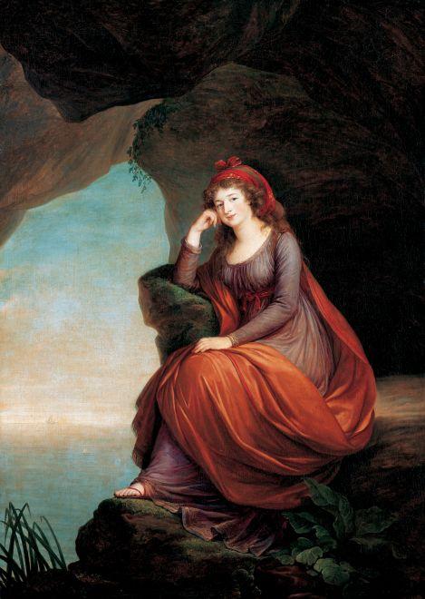 Princess von Esterhazy as Ariadne, Elisabeth Vigee Le Brun. 1793, oil on canvas, Image: Wikipedia