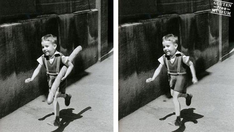 Willy Ronis ikoniska fotografi föreställande en glad pojke med eller utan gluten