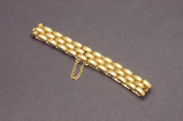 Armband aus GG mit drei Gliederreihen