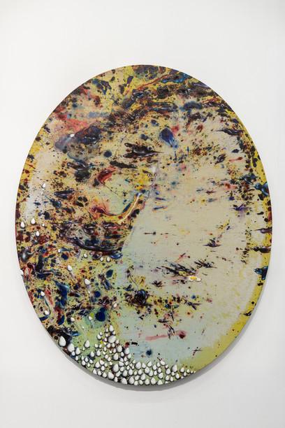Marlène Mocquet, Corrélation, 2015  Huile sur toile, 162 x 130 x 10 cm Courtesy Galerie Laurent Godin, Paris