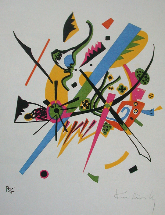 Wassily Kandinsky, Small Worlds I', 1922, lithograph