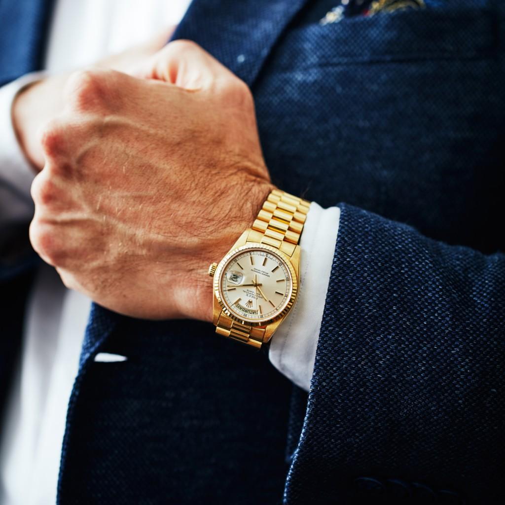 "Todays Wristshot: ROLEX, Oyster Perpetual, Day-Date, Chronometer, ""Mr. Ronnie Peterson"", Cal 3055, 36 mm, 18K , totalvikt 136,9 gram, ca 1978(photo:kaplans.se)"