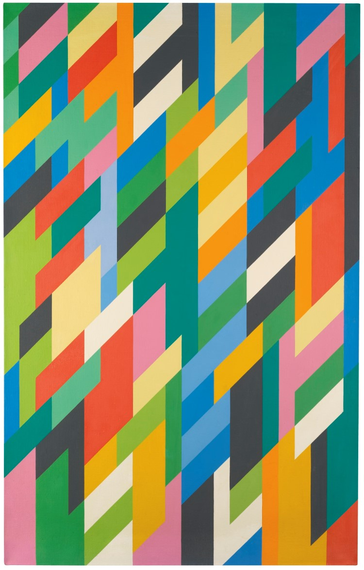 Bridget Riley (geb. 1931), THE IVY PAINTING 1998, Schätzpreis: 159 700 – 239 500 EUR. Auktion: Made in Britain 25. März