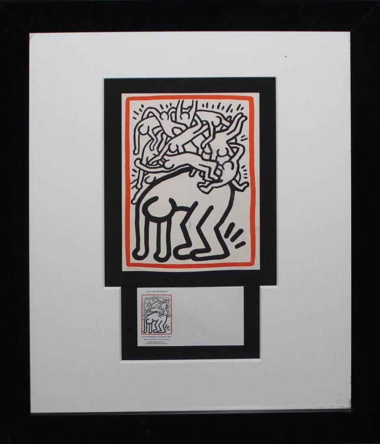 Keith Haring 《Fight Aids Worldwide》