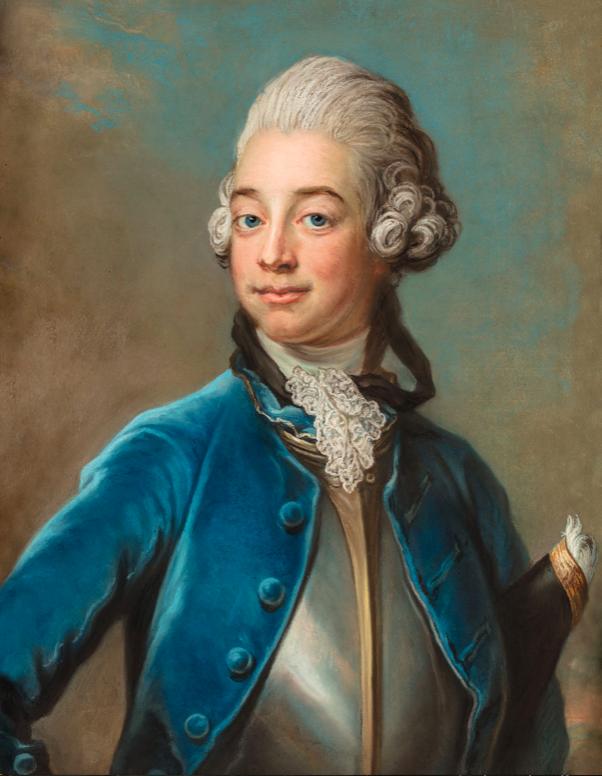 Axel von Fersen som tonåring målad