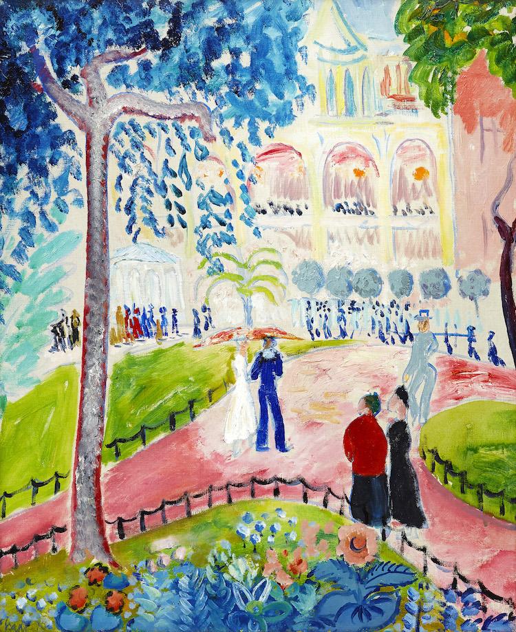 """Isaac Grünewalds """"Från Berzelii Park"""" är auktionssveriges starkaste moderna målning i vår"""