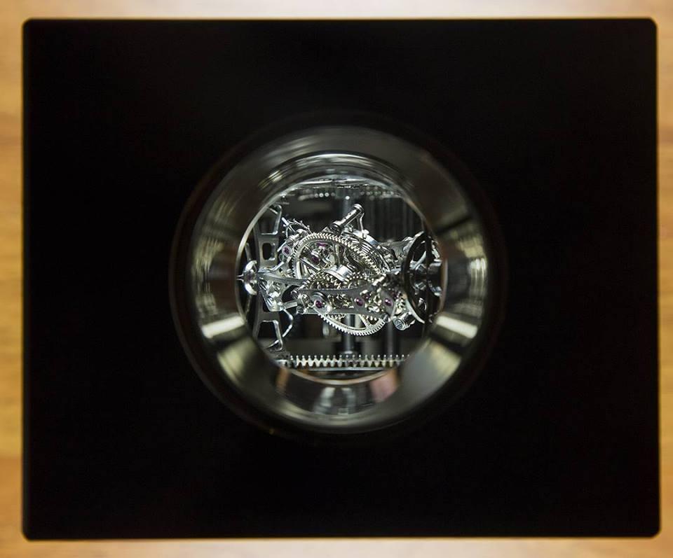 A Suhanov Triple Axis tourbillon on top(photo:A Suhanovs facebook)
