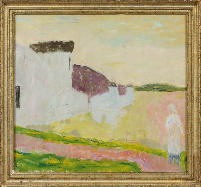 """Ragnar Sandberg (1902-1972). """"Utflykt"""". Olja på duk. Signerad R.S. 64 x 72 cm. Göteborgs Auktionsverk."""