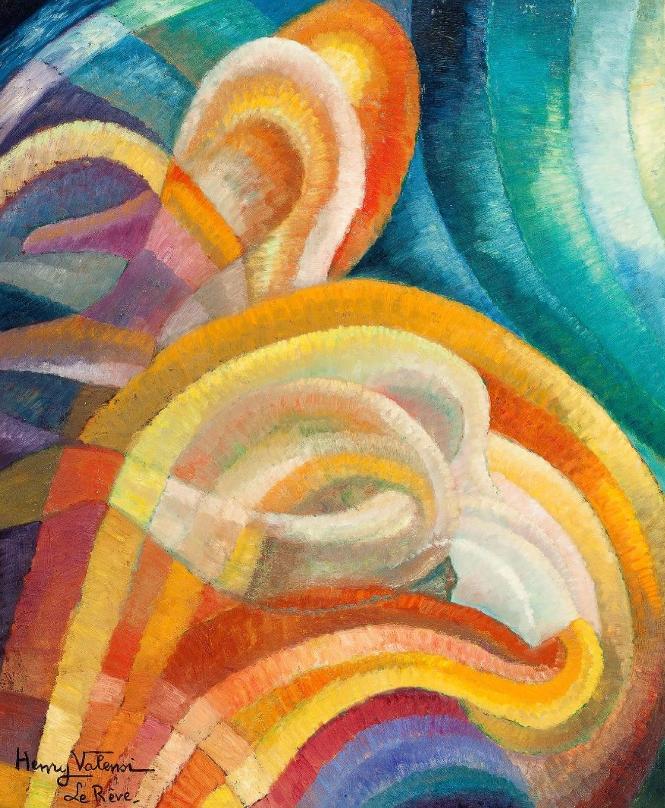 Henry VALENSI (1883-1960) Le rêve Huile sur panneau