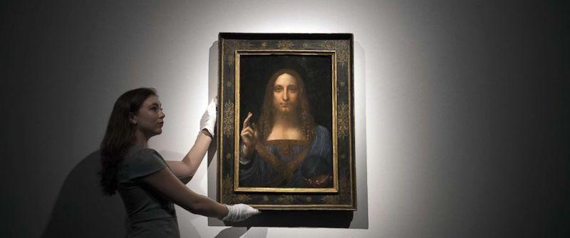 Leonardo Da Vinci's Salvator Mundi, um 1500 Abb.: Christie's