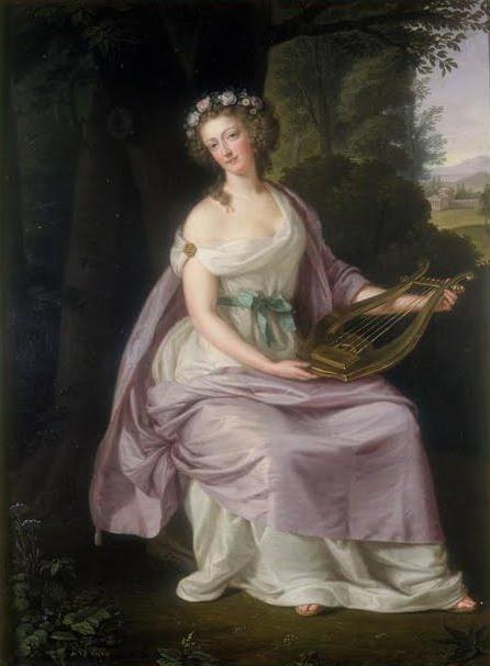 Nach der Halsbandaffaire gab sich die Königin bescheidener. Marie Antoinette als Erato von Ludwig Guttenbrunn (1788)