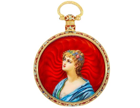 Ilbery Enamel Pocket Watch, London ca. 1840/50 | Photo: Cortrie