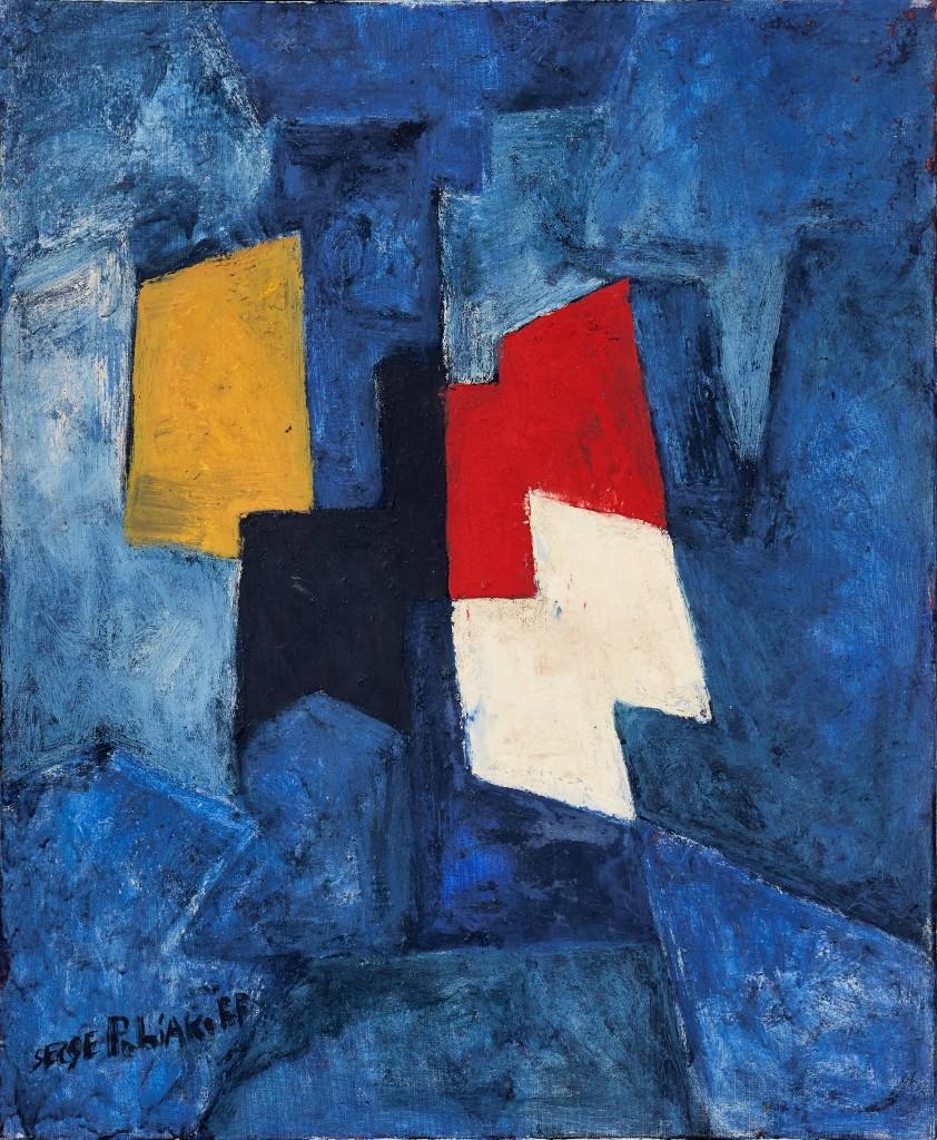 Serges Poliakoff, Composition Abstraite, image ©Uppsala Aktionskammare