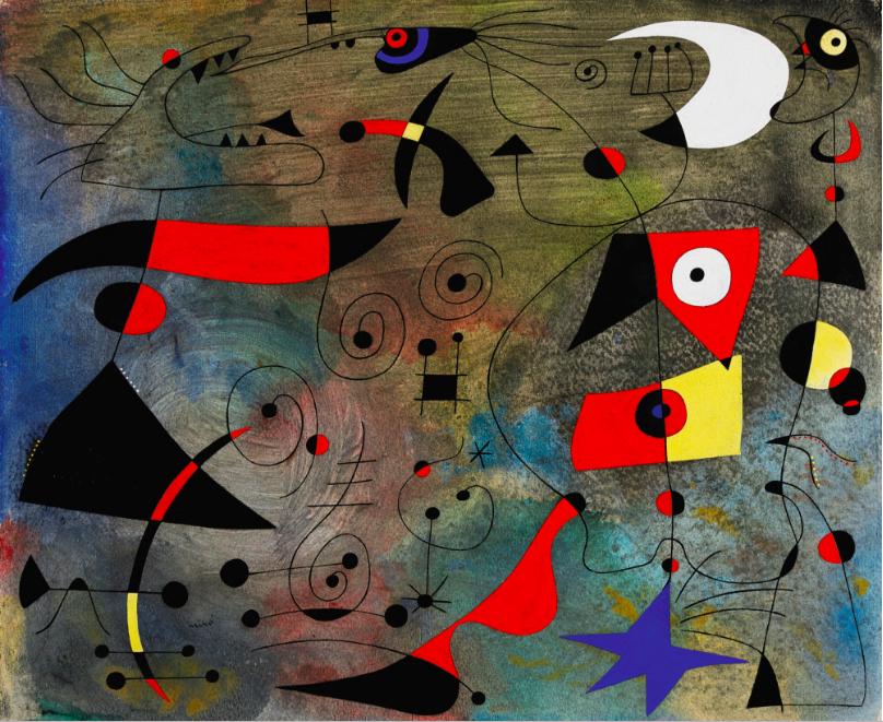 Joan Miró (1893 - 1983) Femme et Oiseaux Image: courtesy Sotheby's
