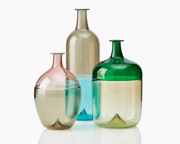 "Tapio Wirkkala, Vases, trois pièces, ""Bolle"", Venini et C. vers 1960"