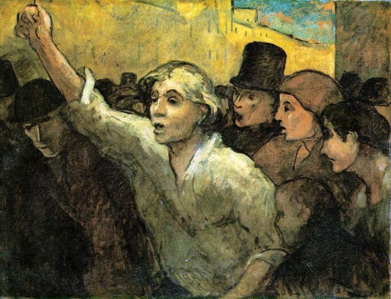 Honoré Daumier L'Emeute, 1848