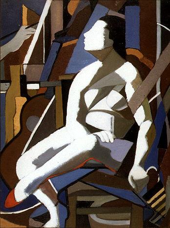 Tamara de Lempicka, « Model in the Studio (abstract) », circa 1960, image via DeLempicka.org
