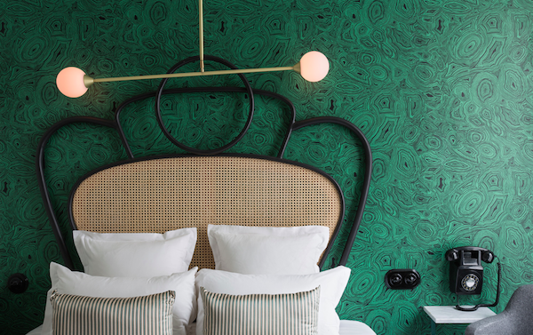 Interior de un hotel de París en la actualidad