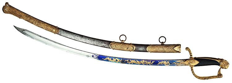 Prunkvoller königlich-bayerischer Ehrensäbel für Tapferkeit aus der Regierungszeit König Max I. Joseph (1806 - 1825) Limit: 15 000 EUR.