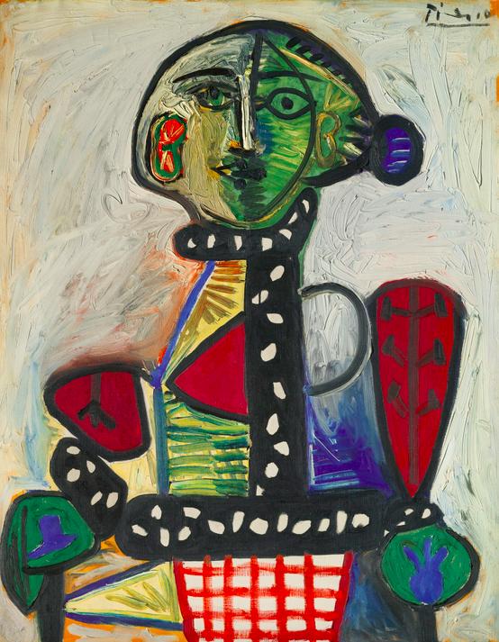Femme au chignon dans un fauteuil, Picasso Image via Sotheby's