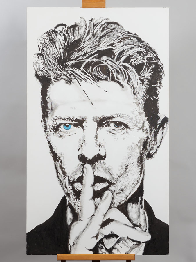 David Bowie par Sonia Durao Acrylique sur toile P55 Art and Auctions