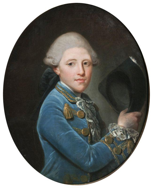 JEAN-BAPTISTE PERRONEAU (1715 Paris - 1783 Amsterdam) attr. - Portrait eines Herren im blauen Rock, Öl/Lwd.