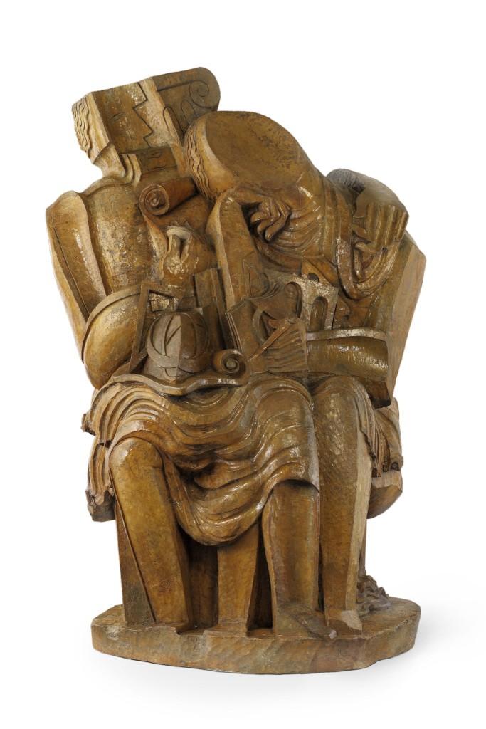 Homo sapiens, 1933 Ossip Zadkine (Vitebsk 1890-1967 Paris) Plâtre, 1936 H 210 x W 141 x D 110 cm
