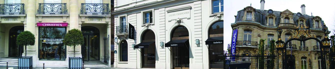 Les bureaux parisiens de Christie's, Sotheby's et Artcurial