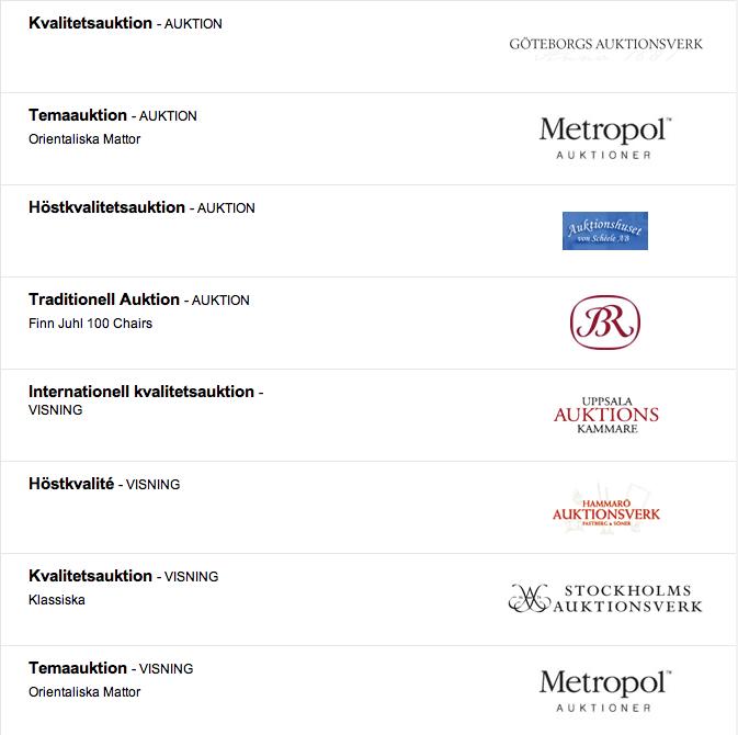 Barnebys.com, Auktionskalendarium, auktioner, nätauktioner, Slagauktioner, Göteborgs Auktionsverk, Metropol Auktioner, Bruun Rasmussen, Uppsala Auktionskammare, Stockholms Auktionsverk, Hammarö Auktionsverk