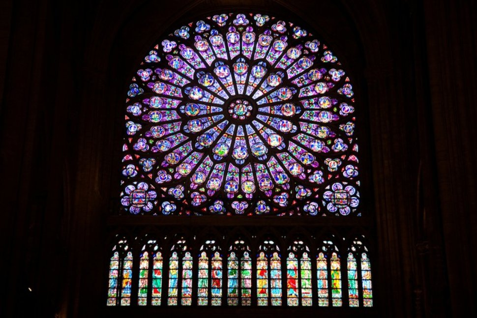 The rose window at Notre-Dame. Image: REUTERS/Charles Platiau via US News