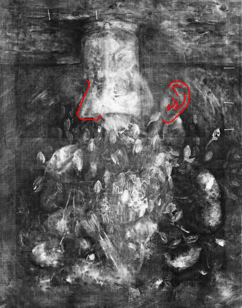 X-ray of Vase with Poppies. Image: Wadsworth Atheneum Museum of Art Conservation Lab.