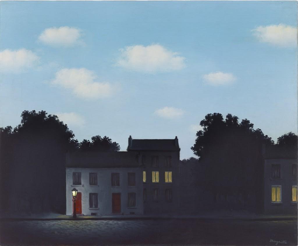 雷內•馬格利特(René Magritte) 光之帝國(L'Empire des Lumières),1949年