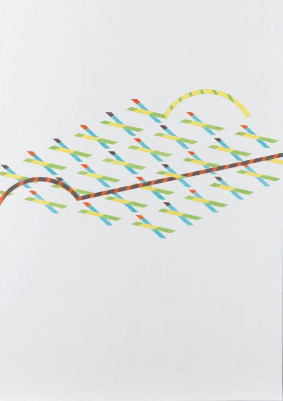 Tomma Abts Untitled #5, 2013 Crayon de couleur et crayon sur papier  Courtesy Greengrassi, London Daniel Buchholz, Cologne David Zwirner, New York  ©Marcus Leith