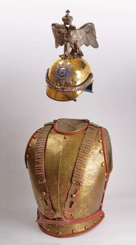Imperial Guard Officer ensemble of helmet and cuirass
