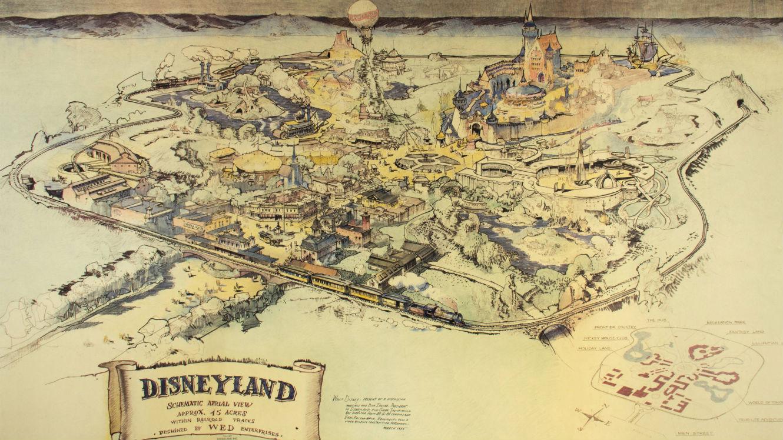 La toute première carte de Disneyland dessinée par Walt Disney lui-même Image via Van Eaton Galleries